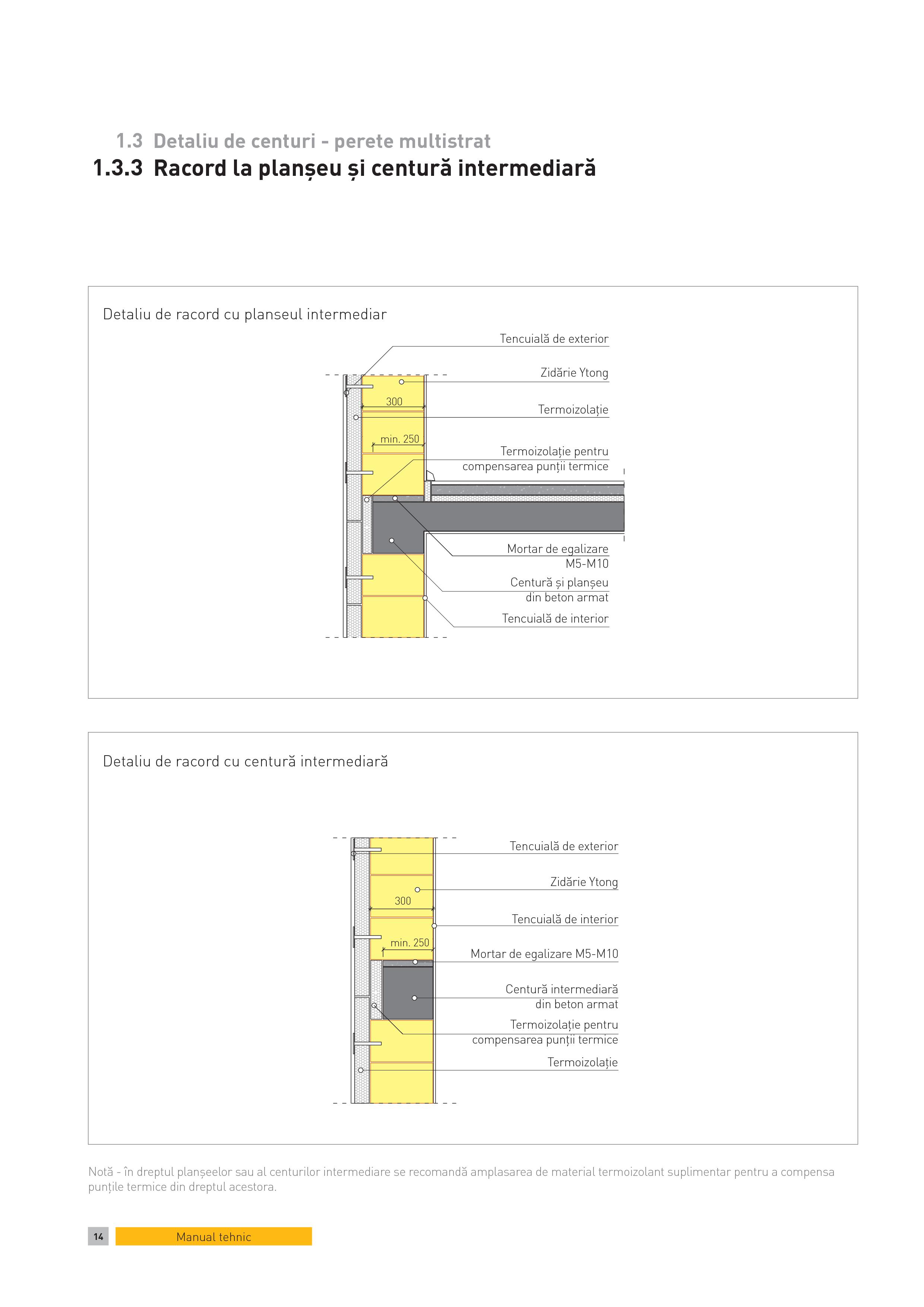 Pagina 1 - CAD-PDF Detaliu de centuri - perete multistrat. Racord la planseu si centura intermediara...