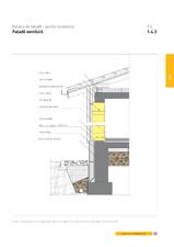 Detaliu de fatada - perete multistrat. Fatada ventilata YTONG