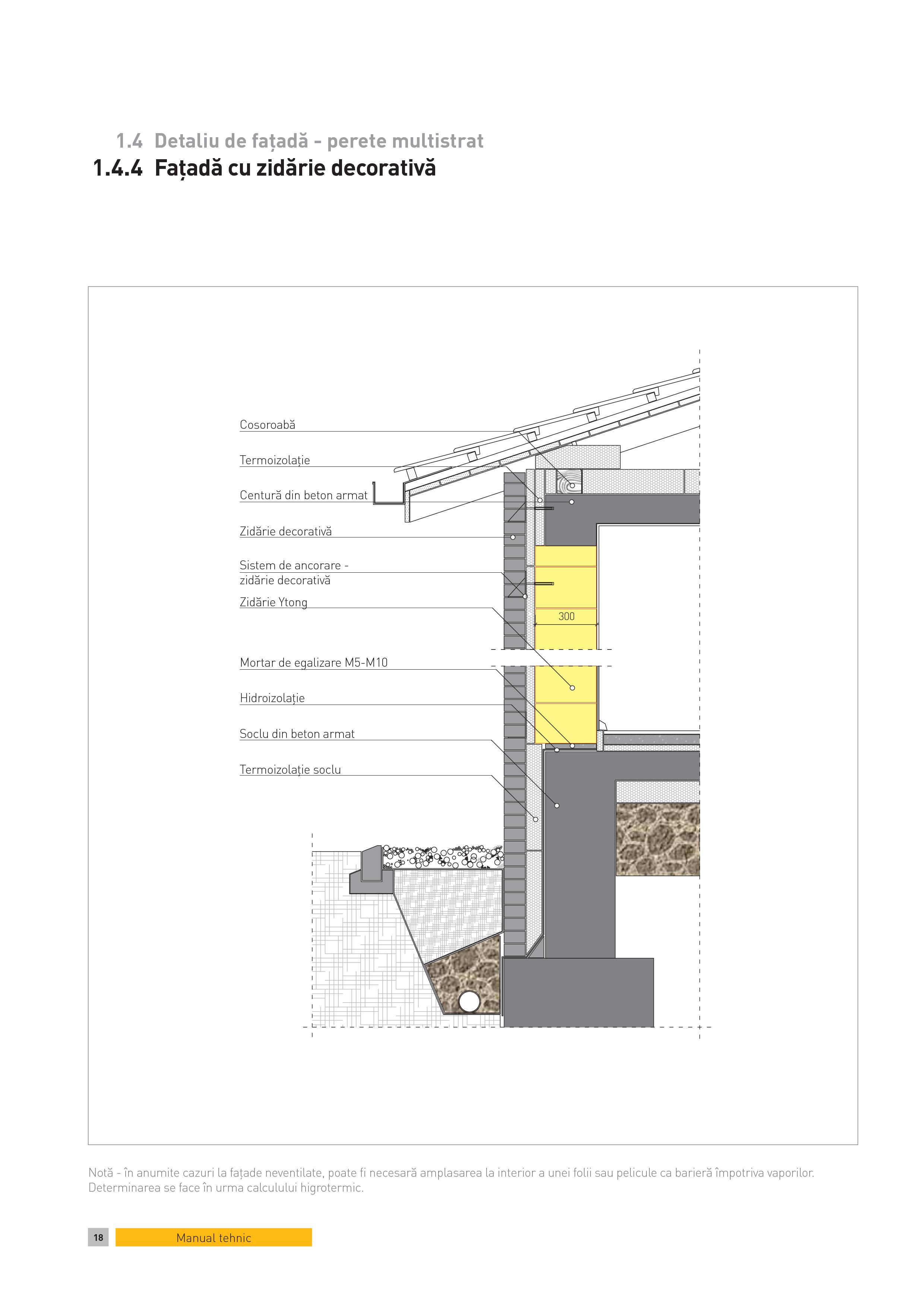 Pagina 1 - CAD-PDF Detaliu de fatada - perete multistrat. Fatada cu zidarie decorativa YTONG Detaliu...