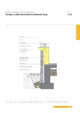 Detaliu de fatada - perete multistrat. Parapet cu piesa decorativa din elemente Ytong YTONG