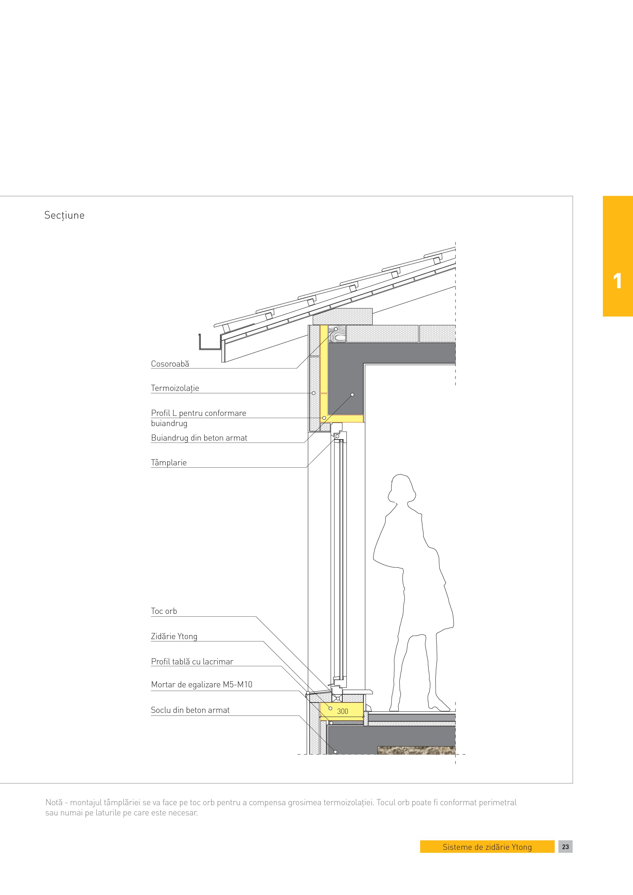 Pagina 1 - CAD-PDF Sectiune - perete multistrat. Fereastra fara parapet la camere cu inaltime uzuala...