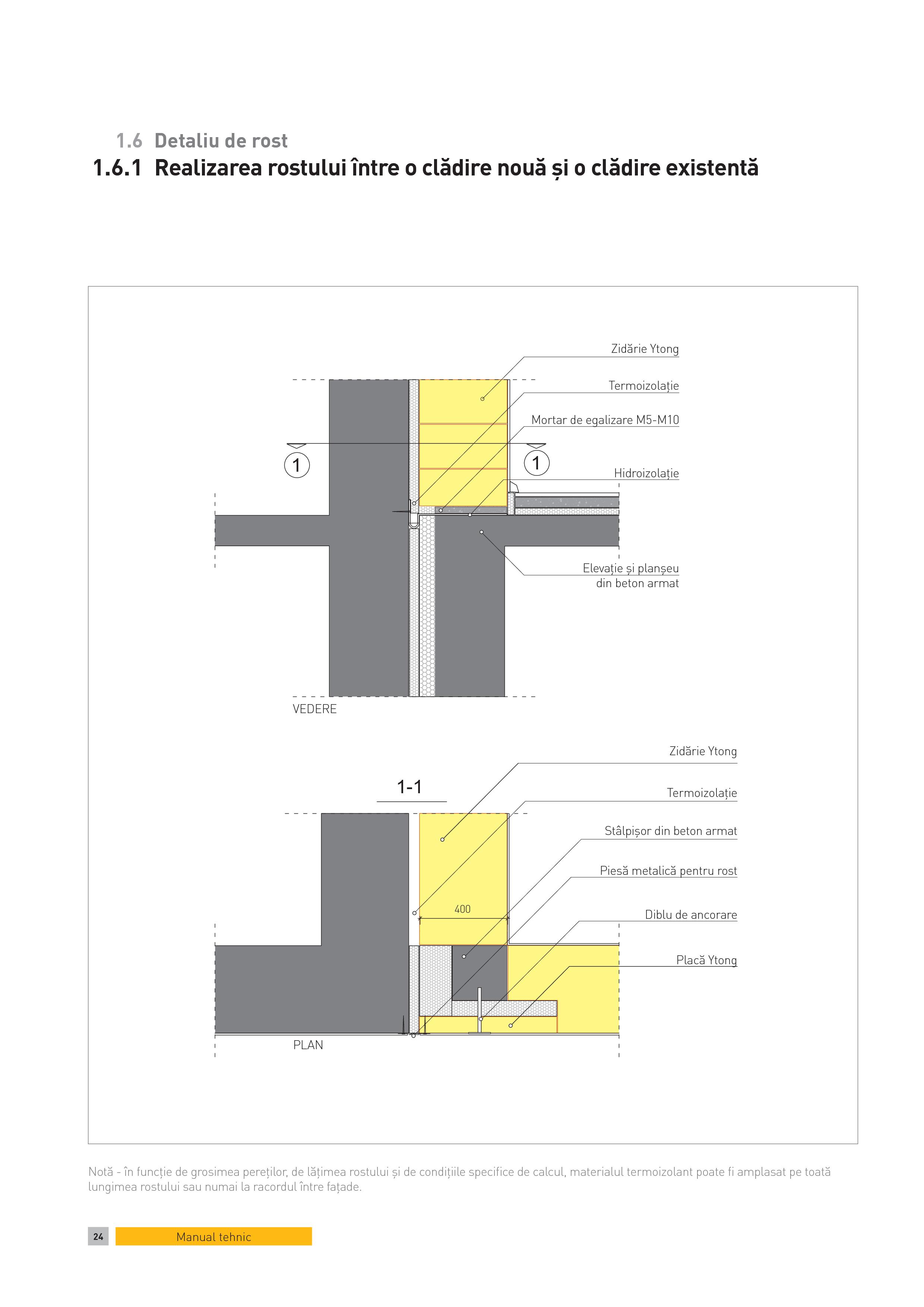 Pagina 1 - CAD-PDF Detaliu de rost. Realizarea rostului intre o cladire noua si o cladire existenta ...