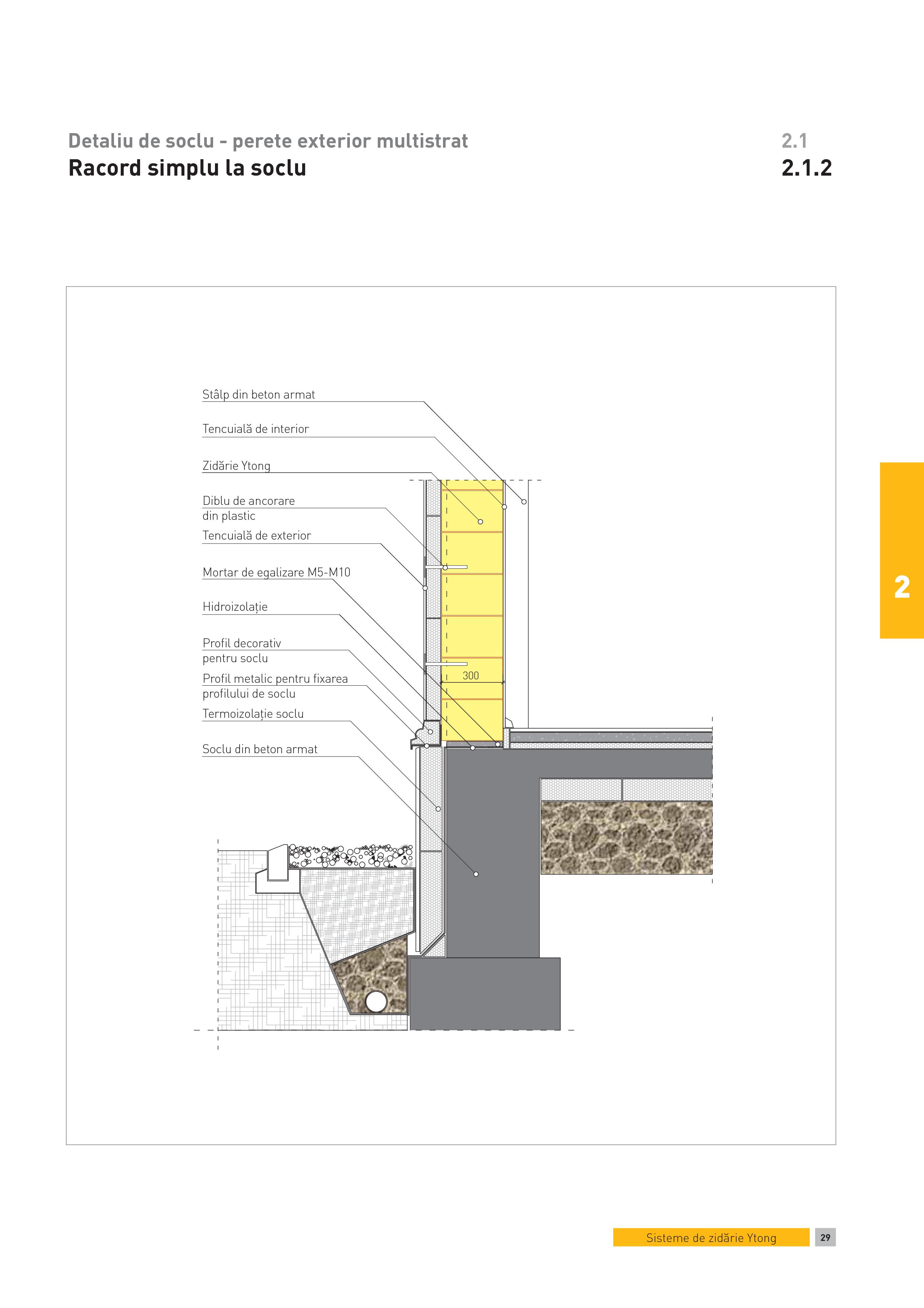 Pagina 1 - CAD-PDF Detaliu de soclu - perete exterior multistrat. Racord simplu la soclu YTONG...