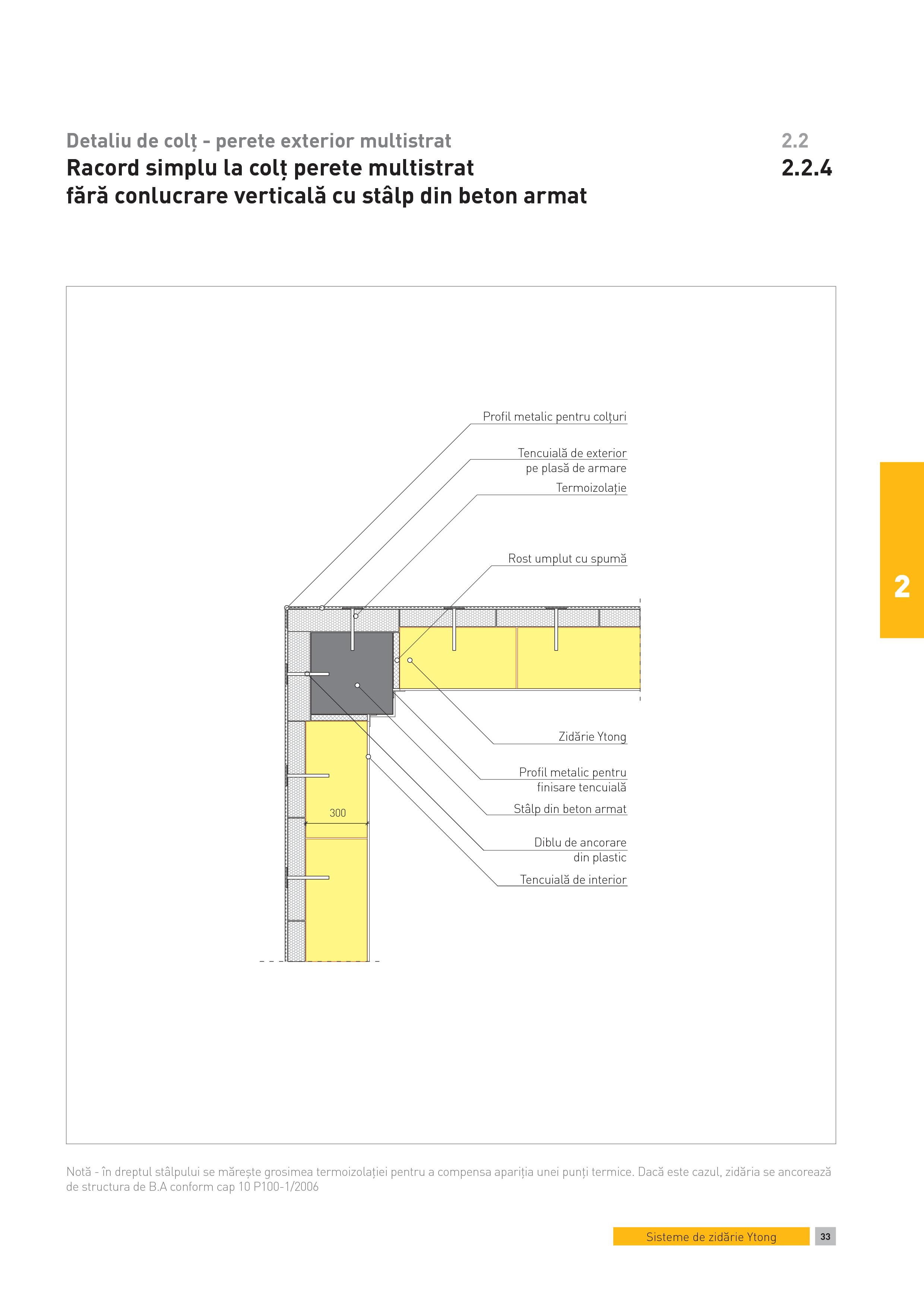 Pagina 1 - CAD-PDF Detaliu de colt - perete exterior multistrat. Racord simplu la colt perete...