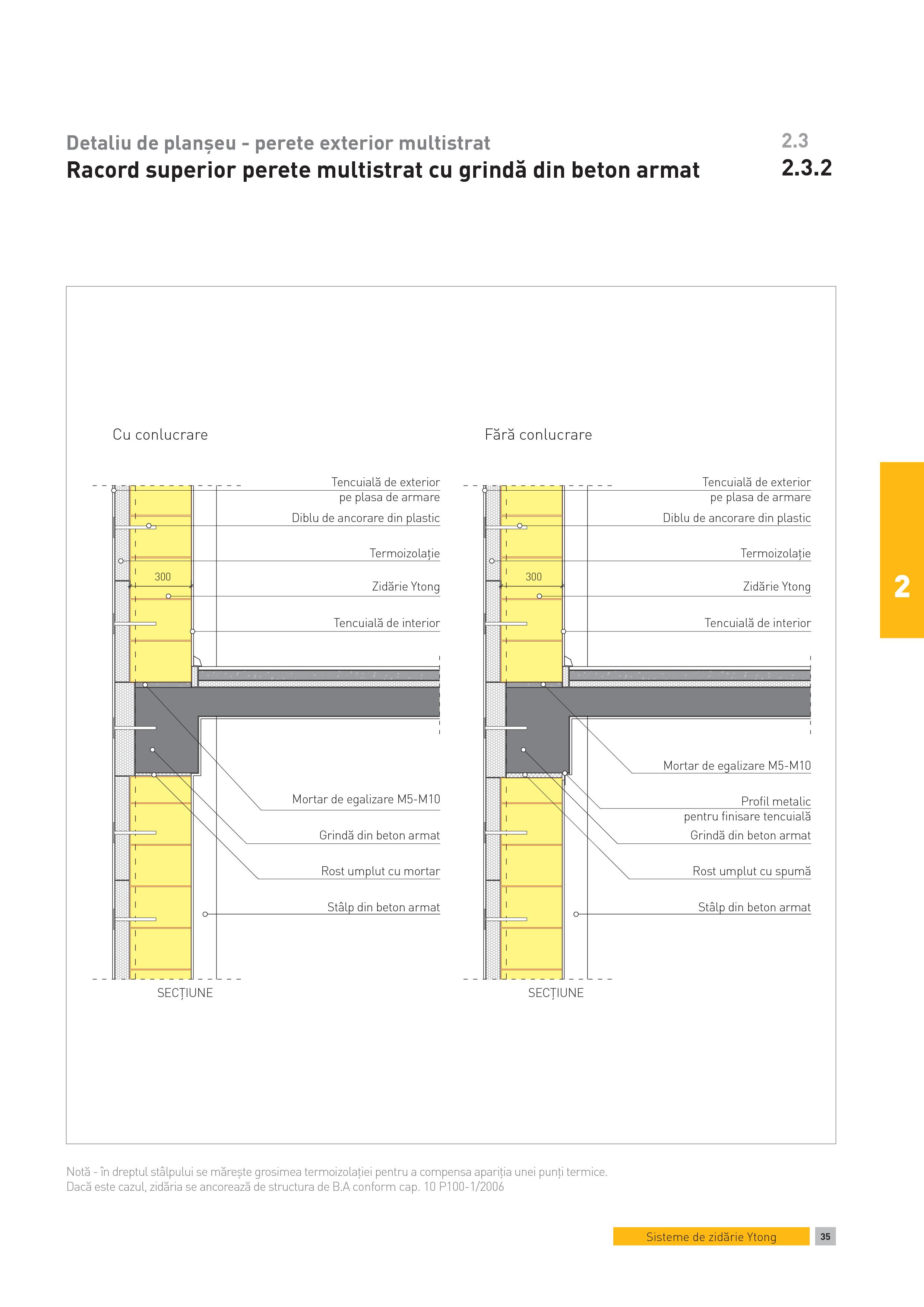 Pagina 1 - CAD-PDF Detaliu de planseu - perete exterior multistrat. Racord superior perete...