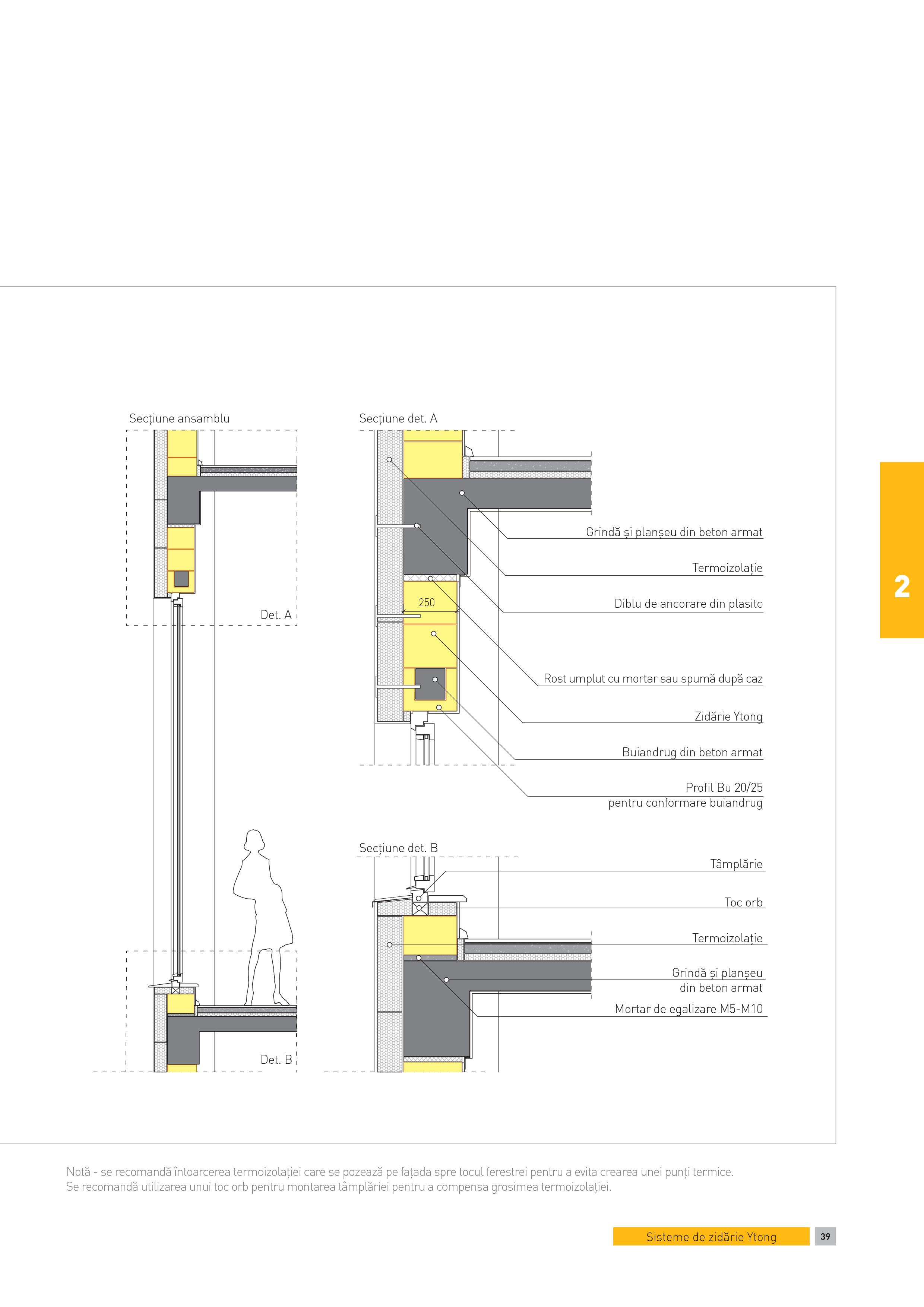 Pagina 1 - CAD-PDF Sectiune ansamblu - constructii in cadre din B.A. Fereastra fara parapet la...