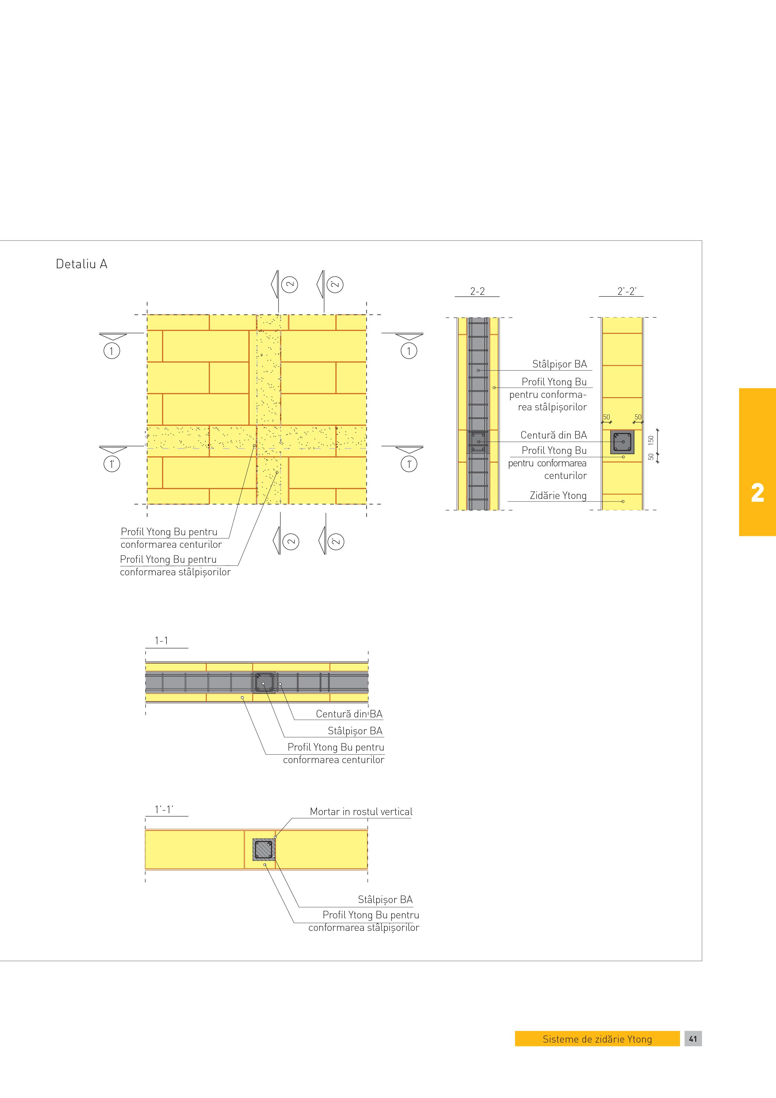 Pagina 1 - CAD-PDF Detaliu A - constructii in cadre din B.A. Pereti de dimensiuni mari care necesita...