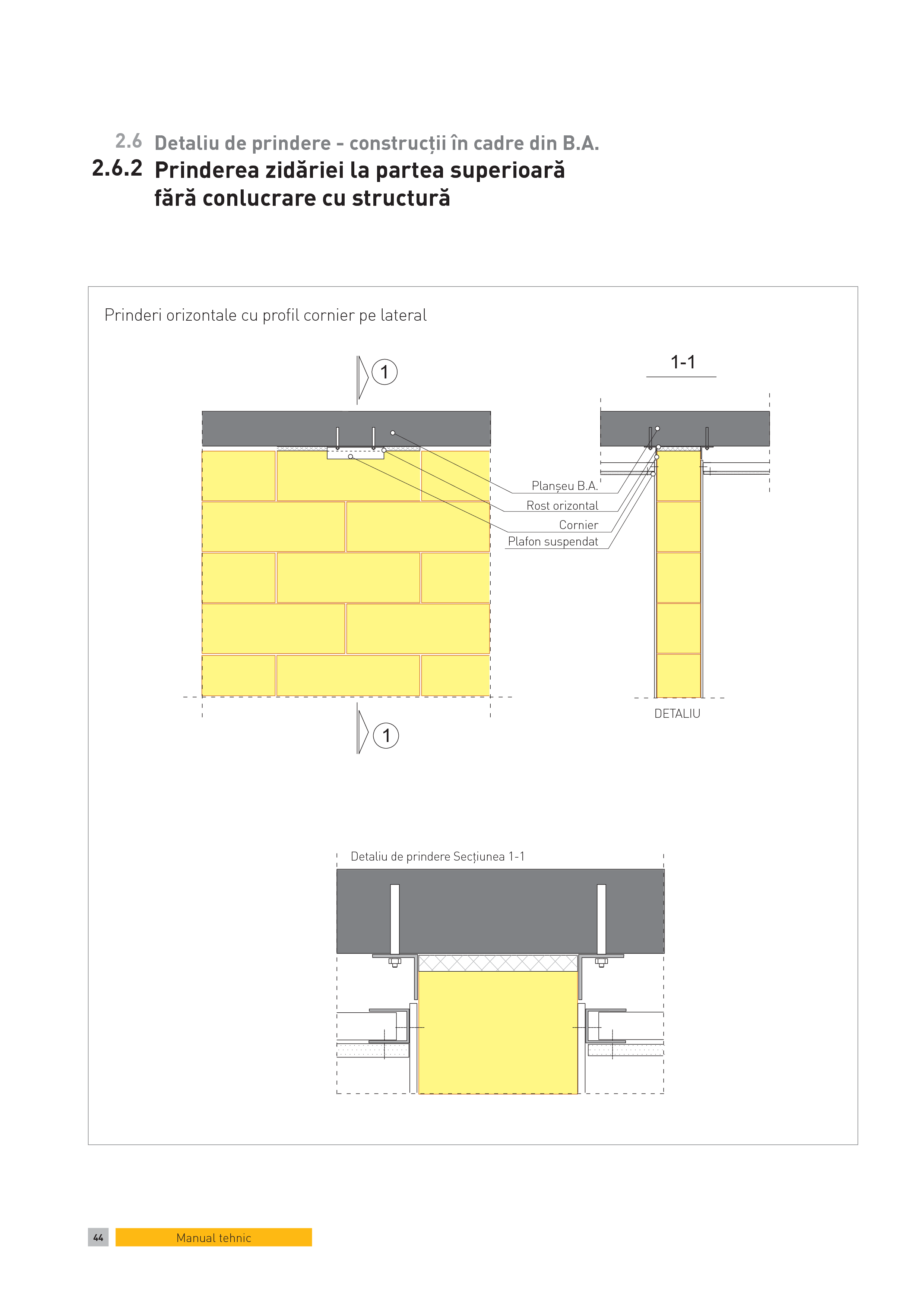 Pagina 1 - CAD-PDF Detaliu de prindere - constructii in cadre din B.A. Prinderea zidariei la partea ...