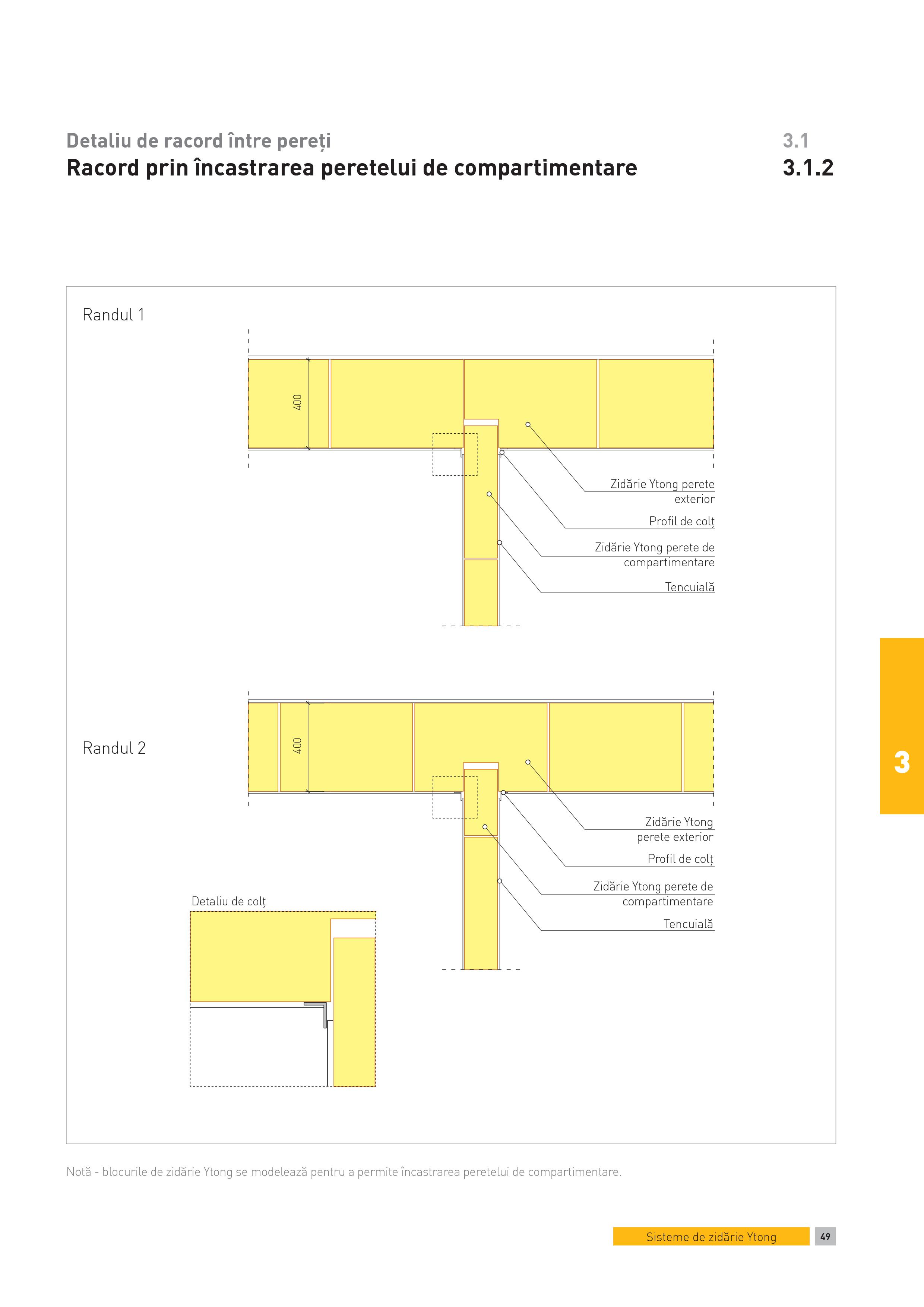 Pagina 1 - CAD-PDF Detaliu de racord intre pereti. Racord prin incastrarea peretelui de...