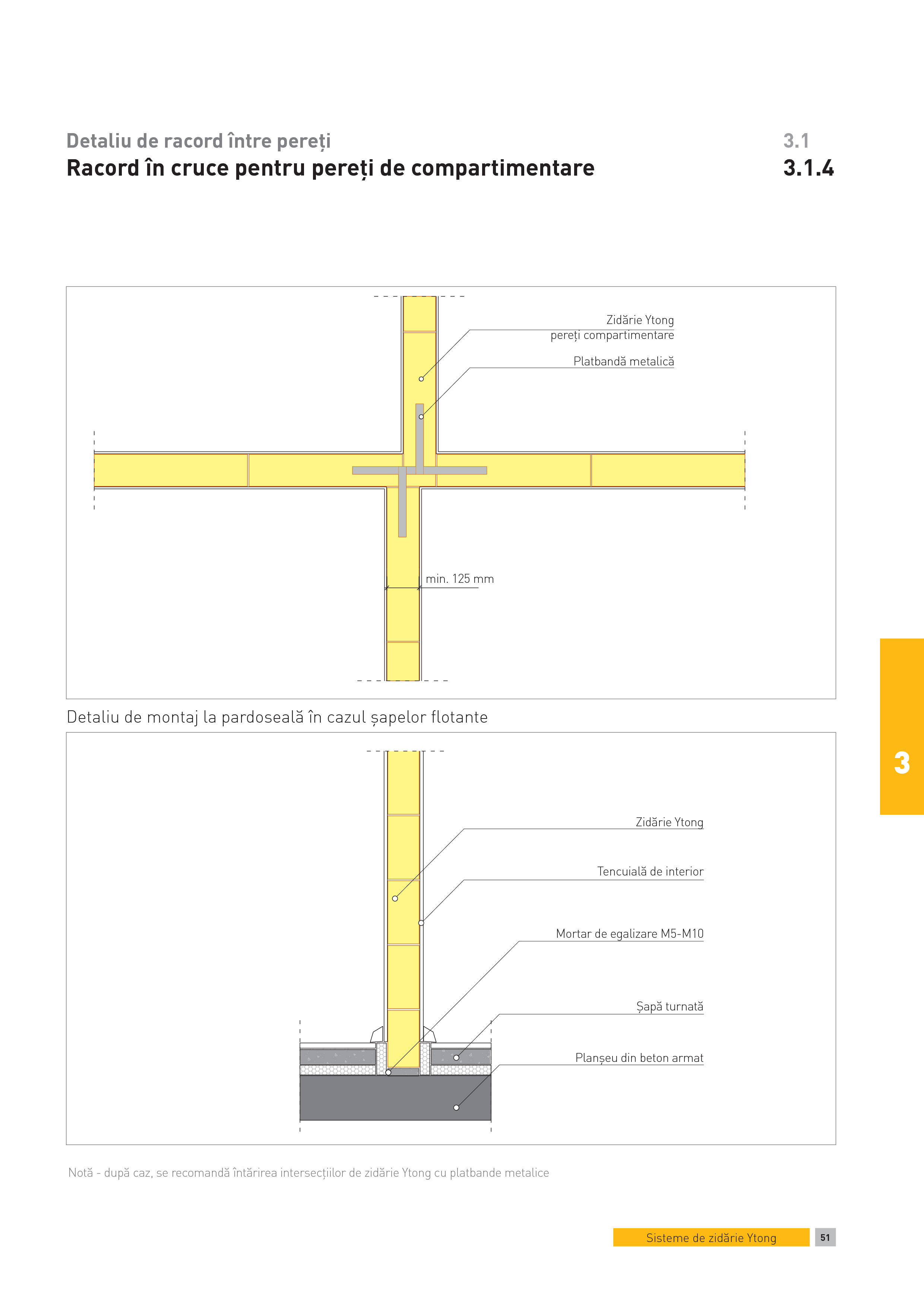 Pagina 1 - CAD-PDF Detaliu de racord intre pereti. Racord in cruce pentru pereti de compartimentare ...