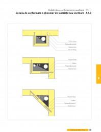 Detalii de racord elemente auxiliare. Detaliu de conformare a ghenelor de instalatii sau ventilare