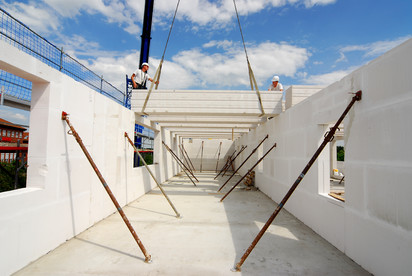 Casa in constructie - detaliu realizare pereti BCA A+, CLASIC, FORTE Case in constructie