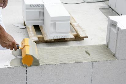 Detaliu al punerii in opera a produselor YTONG A+ CLASIC FORTE Sistem constructiv - Punerea in