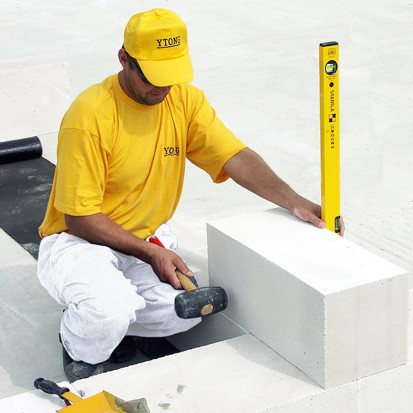 Blocuri pentru zidarie exterioara YTONG - detaliu A+, CLASIC, FORTE Blocuri pentru zidarie exterioara