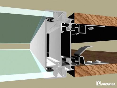 Pereti despartitori modulari demontabili - Detalii 3D rost 10 mm PREMO - Poza 3