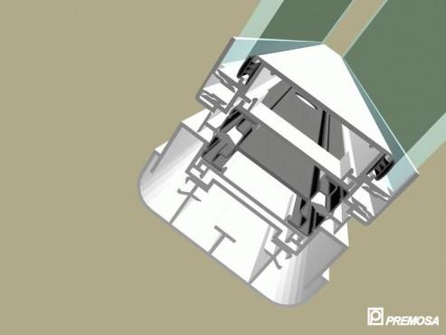 Pereti despartitori modulari demontabili - Detalii 3D rost 10 mm PREMO - Poza 5