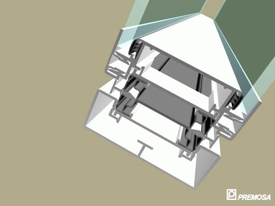 Pereti despartitori modulari demontabili - Detalii 3D rost 10 mm PREMO - Poza 8