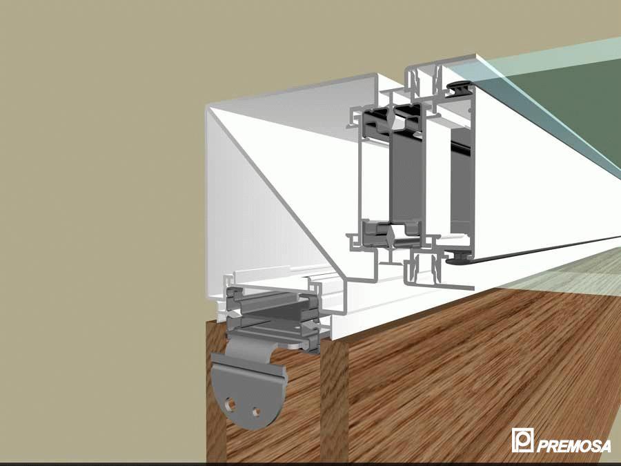 Pereti despartitori modulari demontabili - Detalii 3D rost 10 mm PREMO - Poza 10