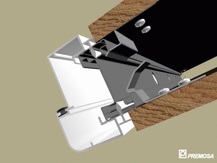 Pereti despartitori modulari demontabili - Detalii 3D rost 10 mm PREMO - Poza 11
