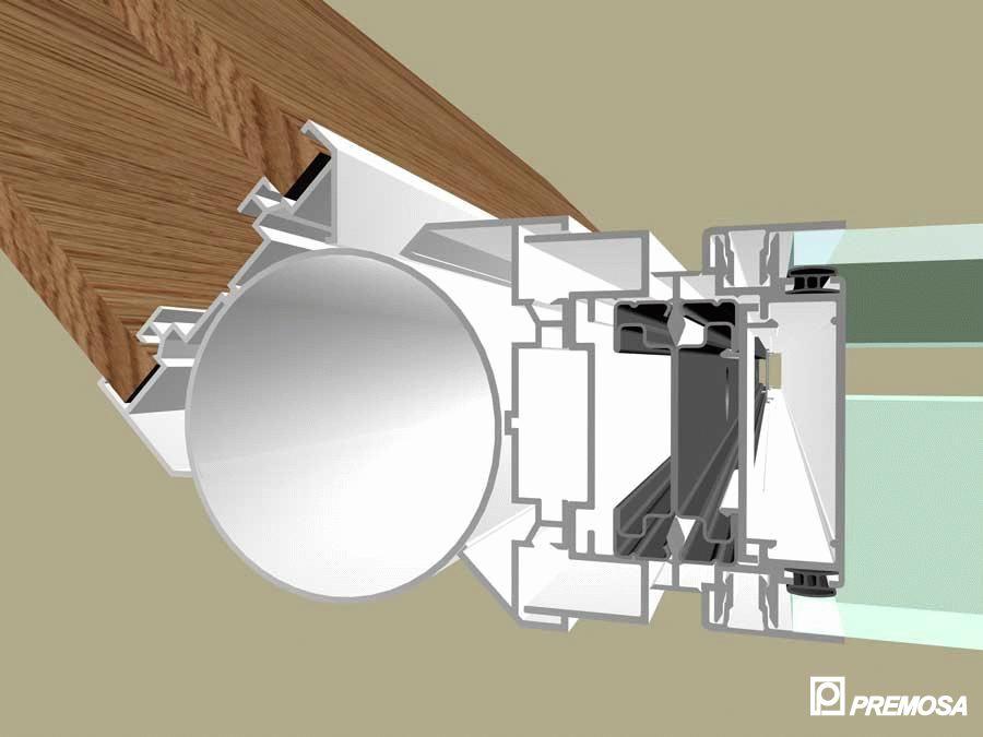 Pereti despartitori modulari demontabili - Detalii 3D rost 10 mm PREMO - Poza 13