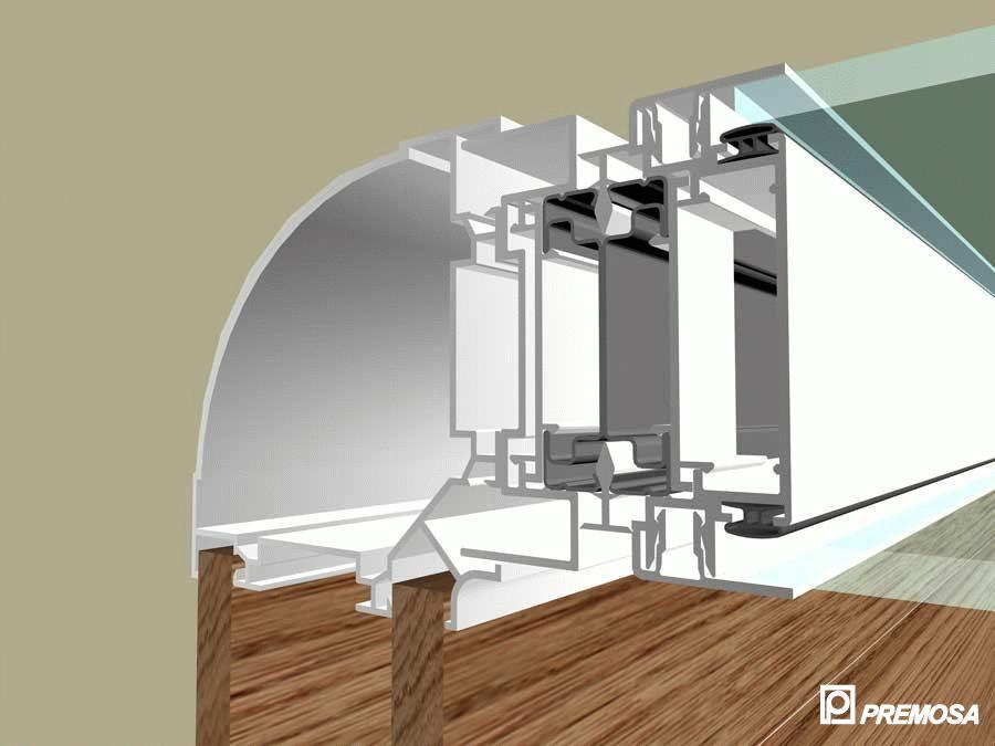 Pereti despartitori modulari demontabili - Detalii 3D rost 10 mm PREMO - Poza 16