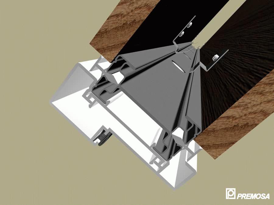 Pereti despartitori modulari demontabili - Detalii 3D rost 10 mm PREMO - Poza 21