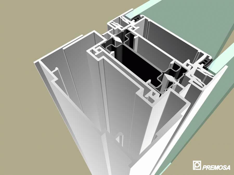 Pereti despartitori modulari demontabili - Detalii 3D rost 10 mm PREMO - Poza 22