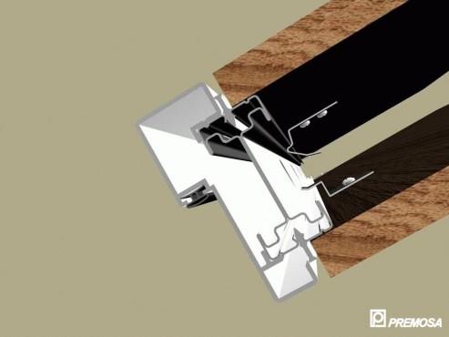 Pereti despartitori modulari demontabili - Detalii 3D rost 3 mm PREMO - Poza 1