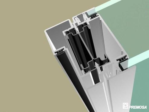 Pereti despartitori modulari demontabili - Detalii 3D rost 3 mm PREMO - Poza 2