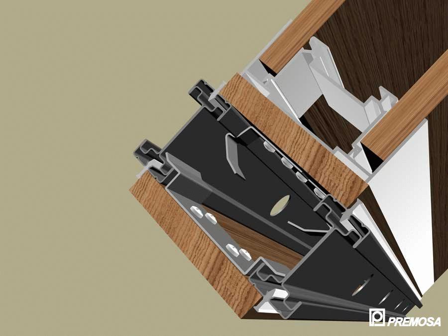 Pereti despartitori modulari demontabili - Detalii 3D rost 3 mm PREMO - Poza 5
