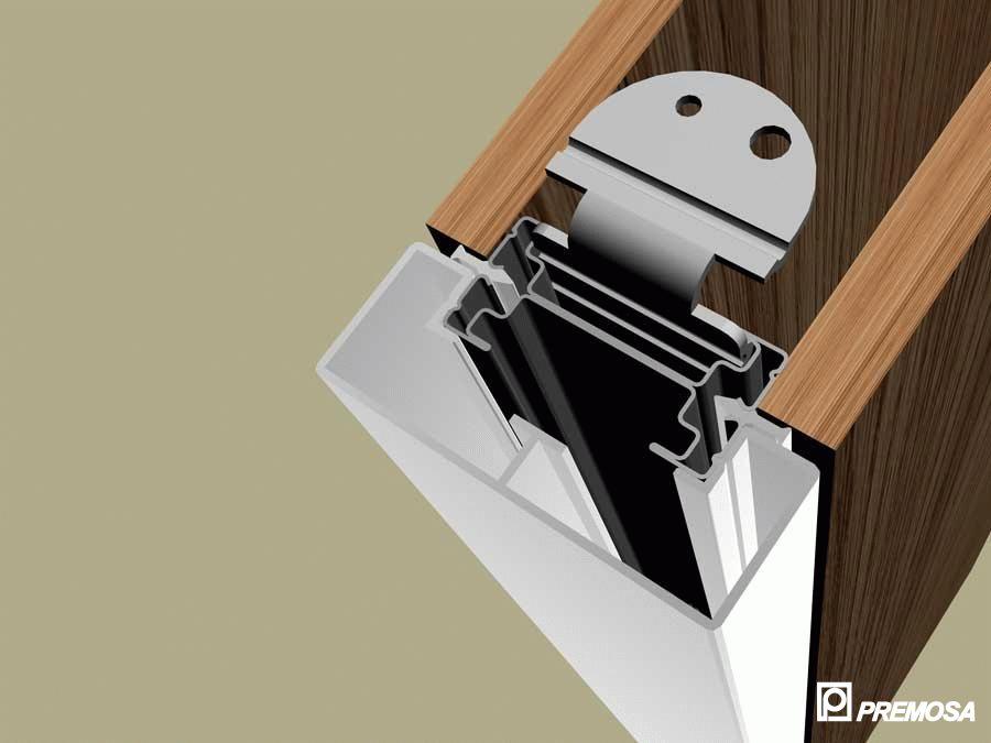 Pereti despartitori modulari demontabili - Detalii 3D rost 3 mm PREMO - Poza 8