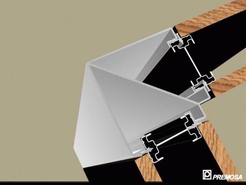 Pereti despartitori modulari demontabili - Detalii 3D rost 3 mm PREMO - Poza 11