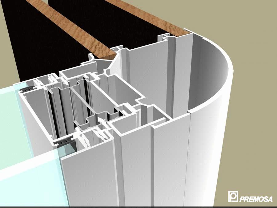 Pereti despartitori modulari demontabili - Detalii 3D rost 3 mm PREMO - Poza 12