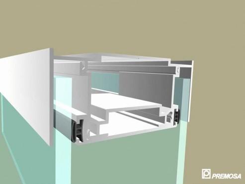 Pereti despartitori modulari demontabili - Detalii 3D rost 3 mm PREMO - Poza 14