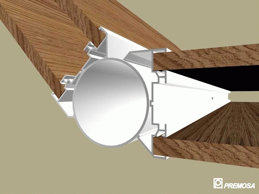 Pereti despartitori modulari demontabili - Detalii 3D rost 3 mm PREMO - Poza 15