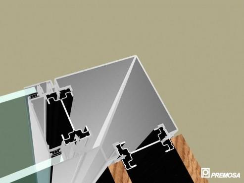 Pereti despartitori modulari demontabili - Detalii 3D rost 3 mm PREMO - Poza 16