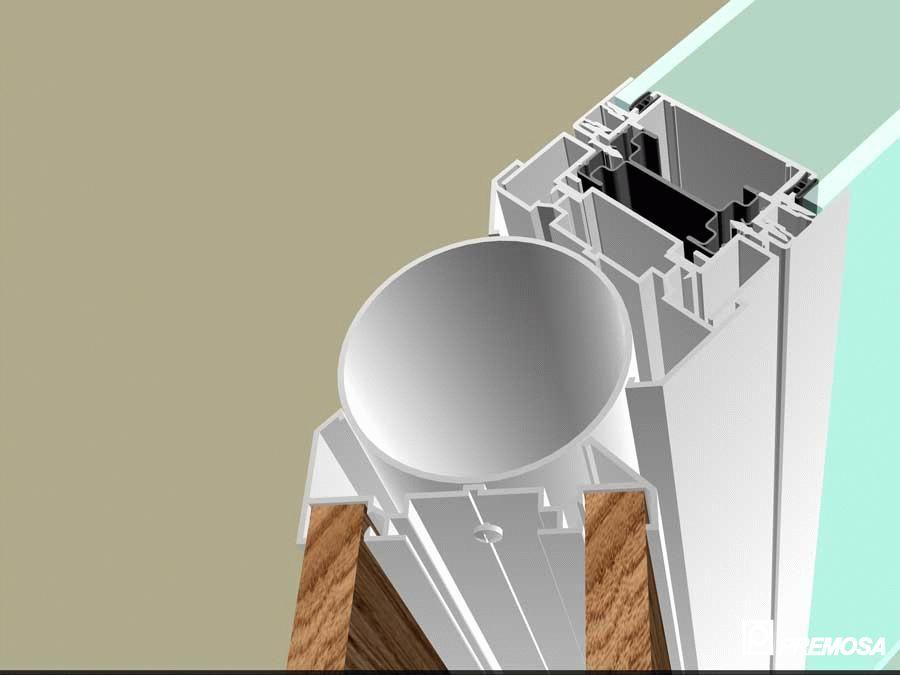 Pereti despartitori modulari demontabili - Detalii 3D rost 3 mm PREMO - Poza 17