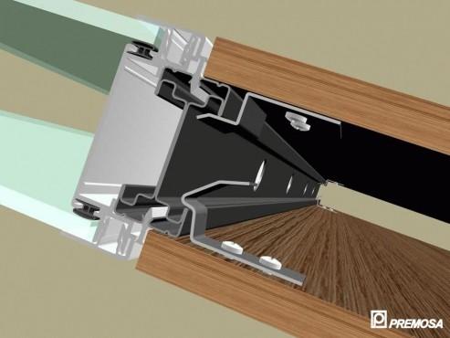 Pereti despartitori modulari demontabili - Detalii 3D rost 3 mm PREMO - Poza 21
