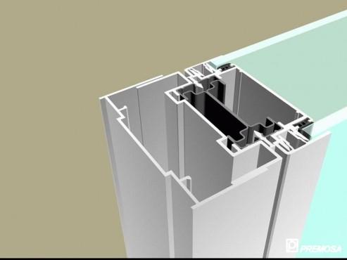Pereti despartitori modulari demontabili - Detalii 3D rost 3 mm PREMO - Poza 22