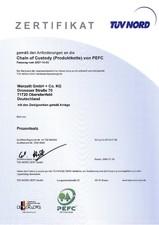 Certificat PEFC - TUVNORD
