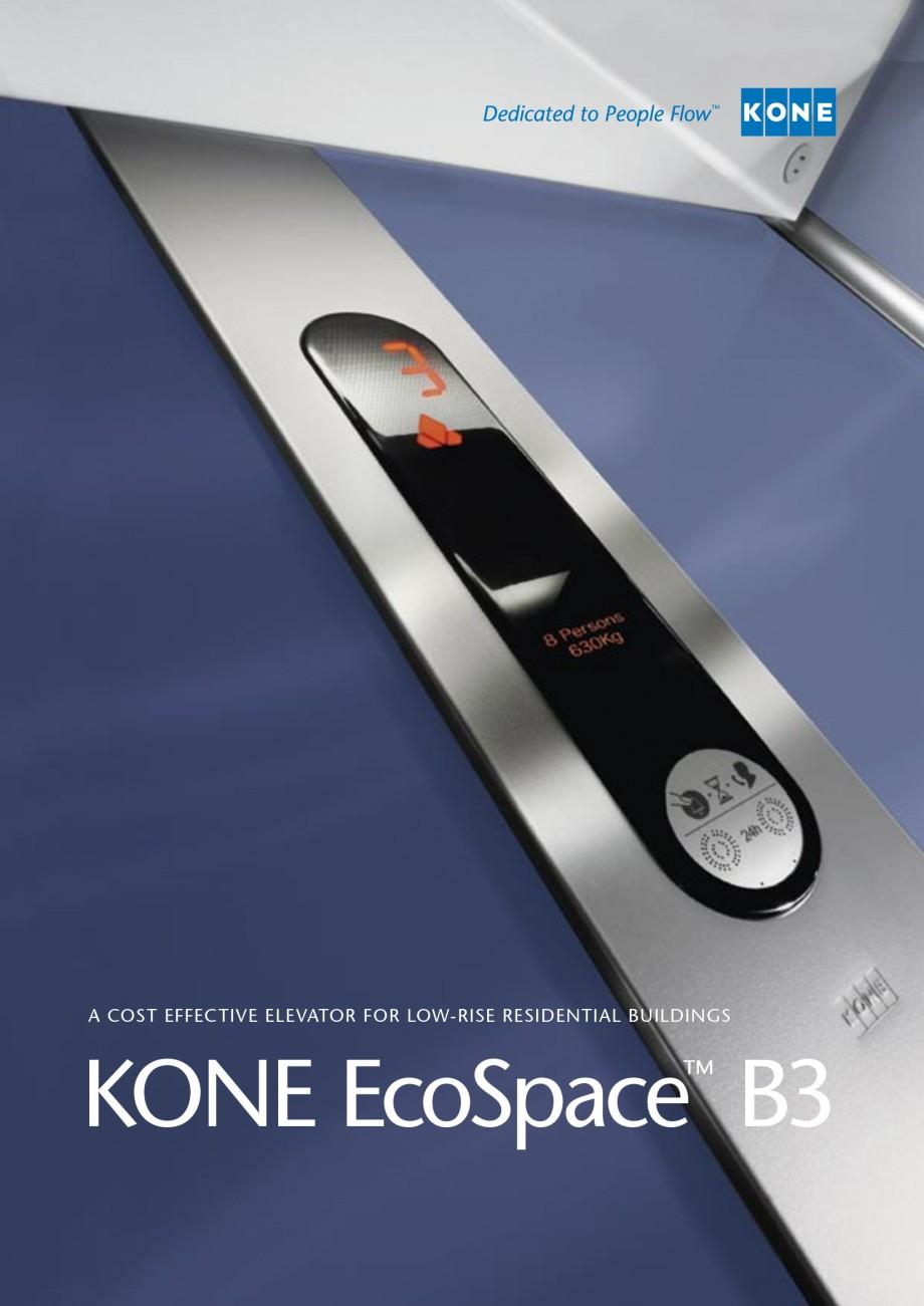 fisa tehnica ascensoare de persoane ecospace b3 kone. Black Bedroom Furniture Sets. Home Design Ideas