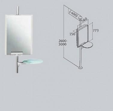Suport de oglinda cu raft de sticla FRANKE - Poza 35
