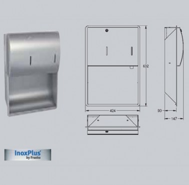 Combinatie de dispenser de prosoape de hartie si dozator de sapun cu montaj ingropat FRANKE - Poza 3