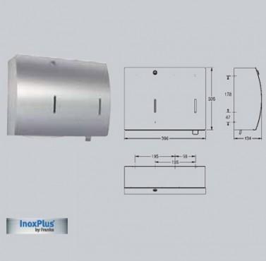 Combinatie de dispenser de prosoape de hartie si dozator de sapun, montare pe perete FRANKE - Poza 4