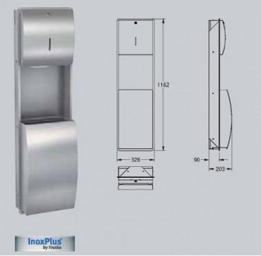 Combinatie dispenser de prosoape de hartie cos de gunoi FRANKE - Poza 5