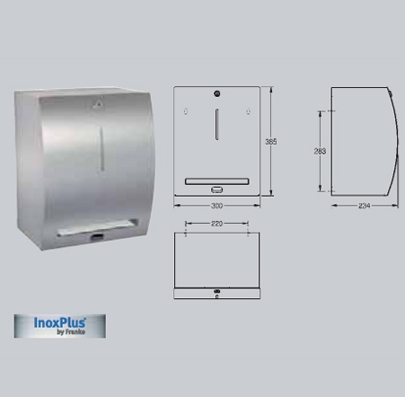 Dispenser electronic de prosoape de hartie, montare pe perete FRANKE - Poza 19