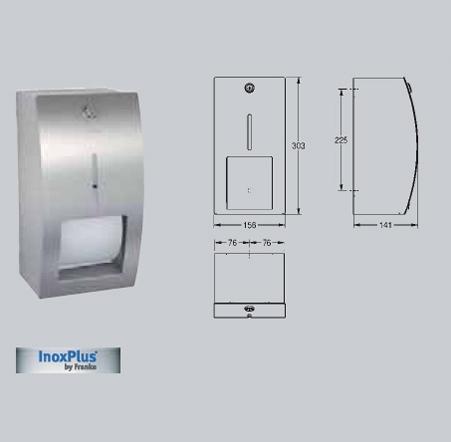 Suport pentru 2 role de hartie igienica, cu sistem de blocare,cu montare pe perete FRANKE - Poza 30