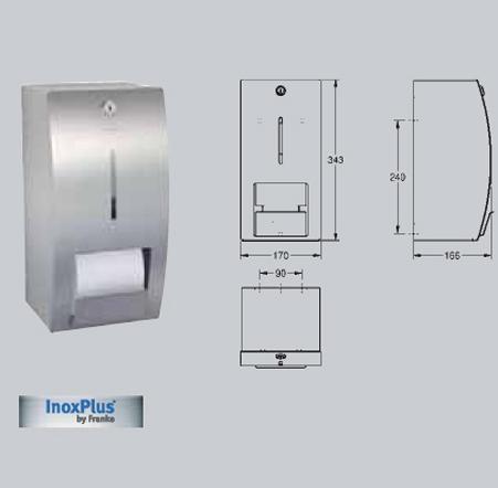 Suport pentru 2 role de hartie igienica, fara sistem de blocare, montare pe perete FRANKE - Poza 31