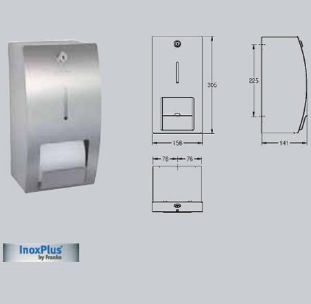 Suport pentru 2 role de hartie igienica, montare pe perete FRANKE - Poza 32