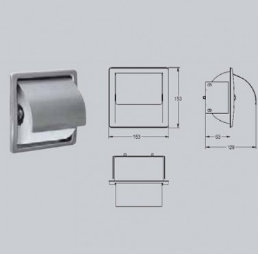 Suport pentru hartie igienica, cu montaj ingropat FRANKE - Poza 33